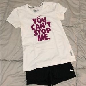 "Nike ""You can't stop me"" dri-fit shirt size small"